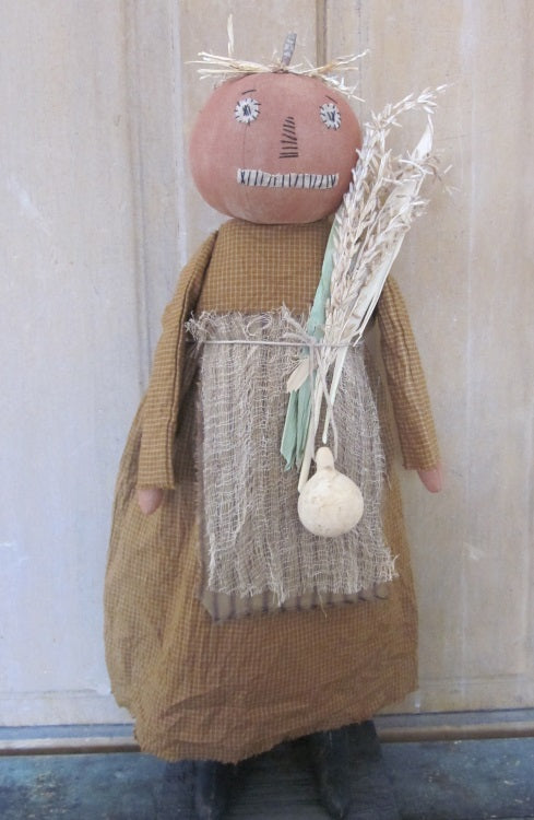 Ruthie Primitive Pumpkin Girl Doll