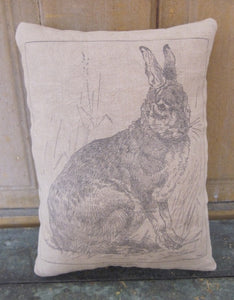 Sitting Hare Pillow