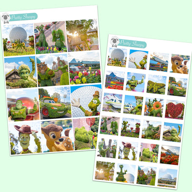 Flower & Garden Festival Photo Boxes Stickers