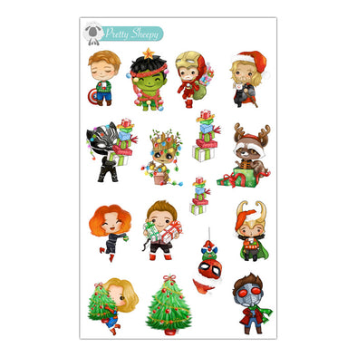 Avengers Christmas Stickers