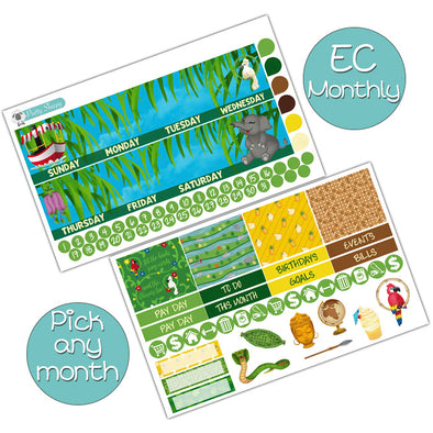 Adventureland Monthly Kit for Erin Condren Planner - Pick ANY Month!