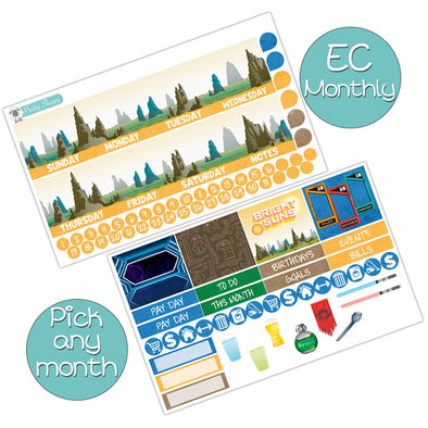 Bright Suns Monthly Kit for Erin Condren Planner - Pick ANY Month!