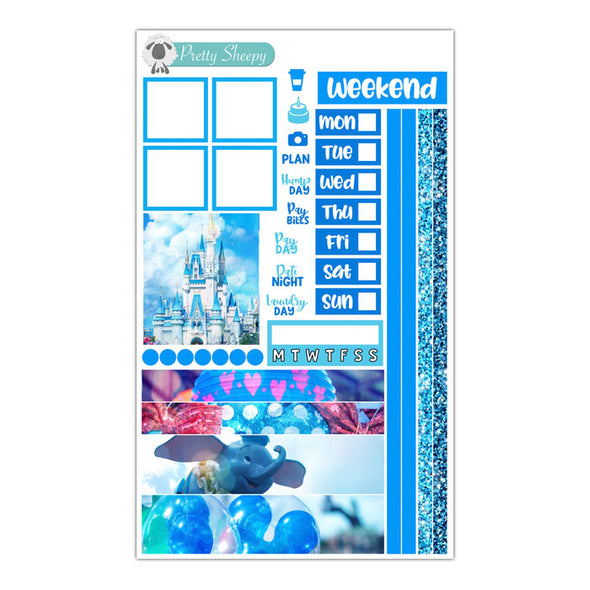 Colors of the World: Kingdom Blue Hobonichi Weeks Stickers