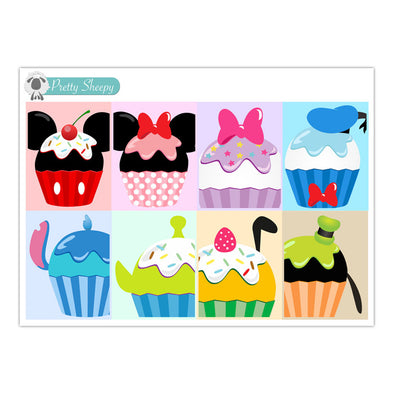 Character Cupcakes & Ice Cream FULL BOX Stickers