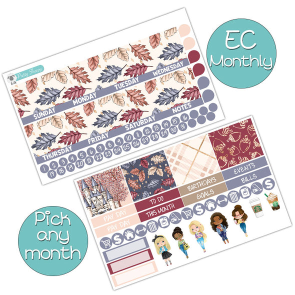 Fall Fairytale Monthly Kit for Erin Condren Planner - Pick ANY Month!