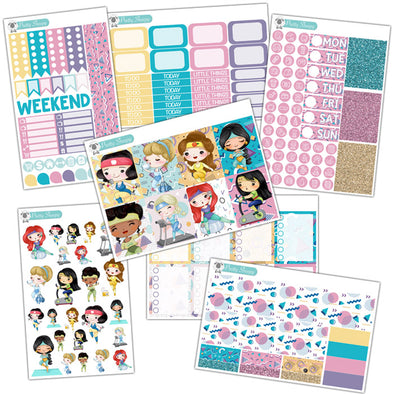 Fitness Princesses Planner Stickers Collection