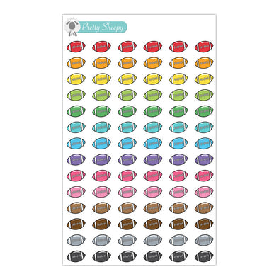 Football Stickers - Rainbow Doodles
