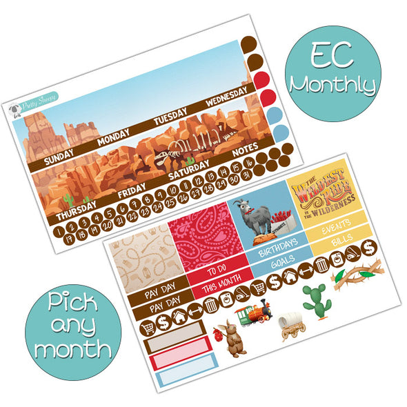 Frontierland Monthly Kit for Erin Condren Planner - Pick ANY Month!