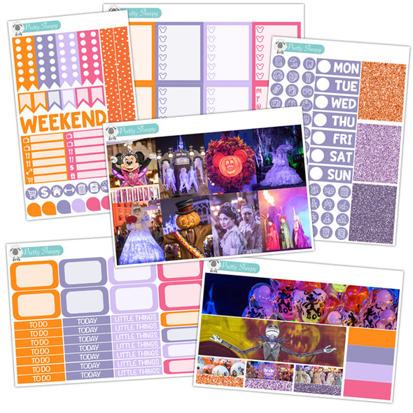 Halloween Photos Planner Stickers Collection