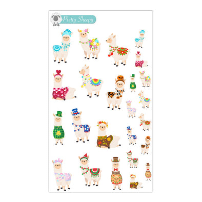A Year of Llamas Stickers