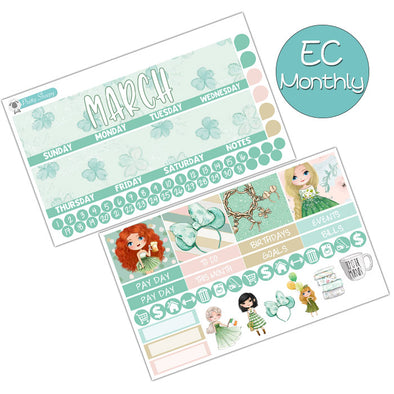 Lucky Princesses March Monthly Kit for Erin Condren Planner