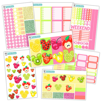 Magical Fruits Planner Stickers Collection