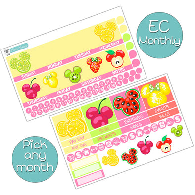 Magical Fruits Monthly Kit for Erin Condren Planner - Pick ANY Month!