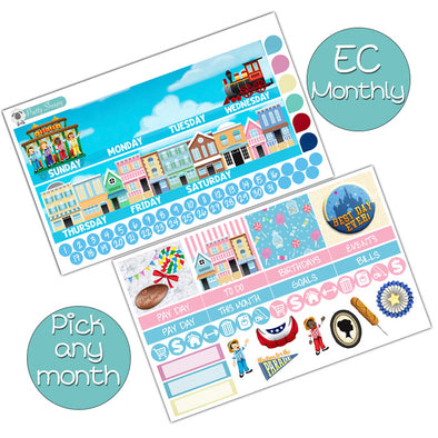 Main Street USA Monthly Kit for Erin Condren Planner - Pick ANY Month!