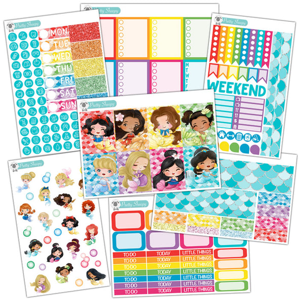 Mermazing Princesses Planner Stickers Collection