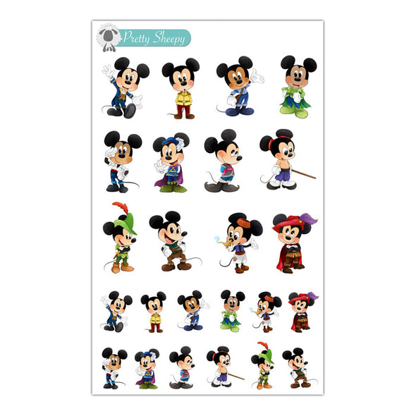 Prince Mickey Stickers