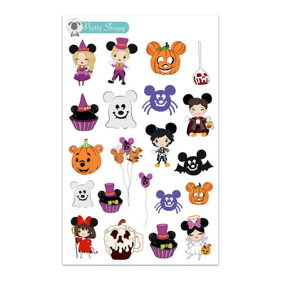 Mickey Halloween Kids Stickers