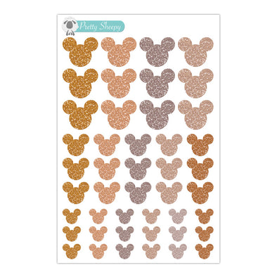 Thanksgiving/Fall Glitter Mickey Heads Stickers