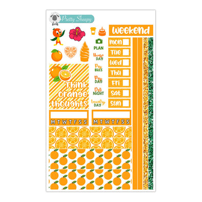 Orange Bird Hobonichi Weeks Stickers