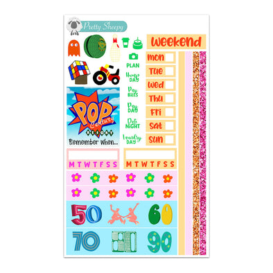 Pop Century Hobonichi Weeks Stickers