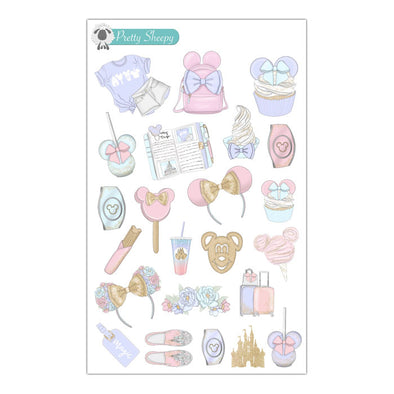 Pastel Magic Disney Stickers
