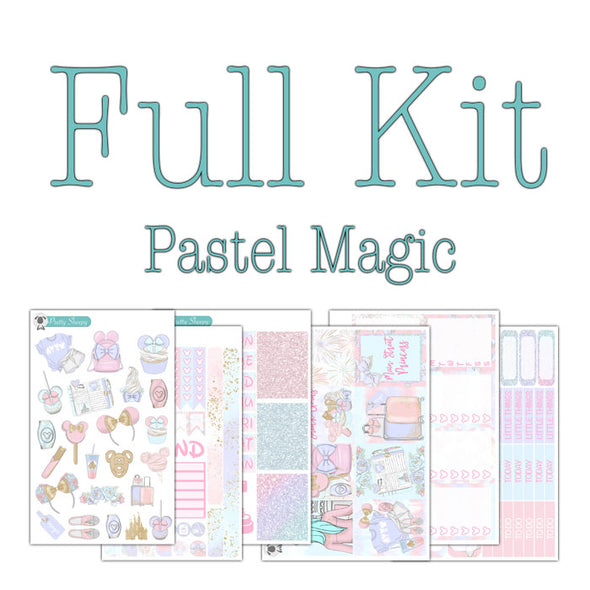 Pastel Magic Disney Planner Stickers Collection