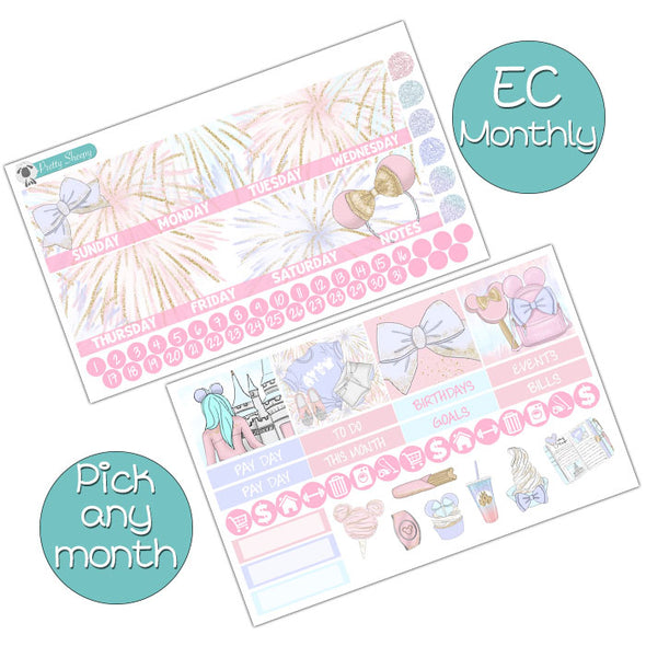 Pastel Magic Monthly Kit for Erin Condren Planner - Pick ANY Month!