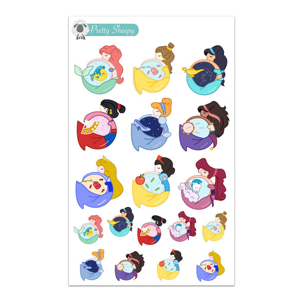 Princess Circles Stickers