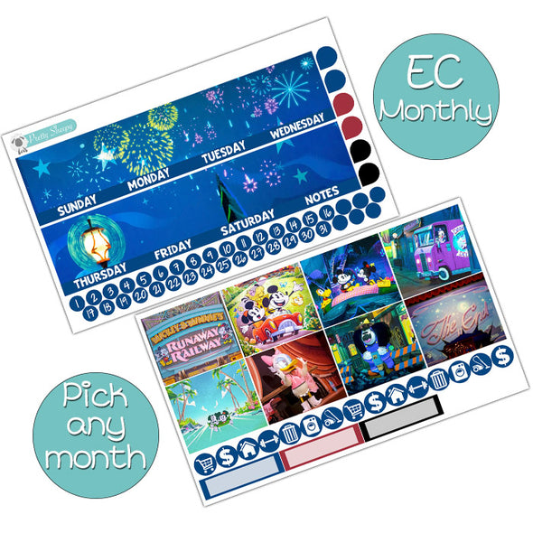 Runaway Railway Monthly Kit for Erin Condren Planner - Pick ANY Month!