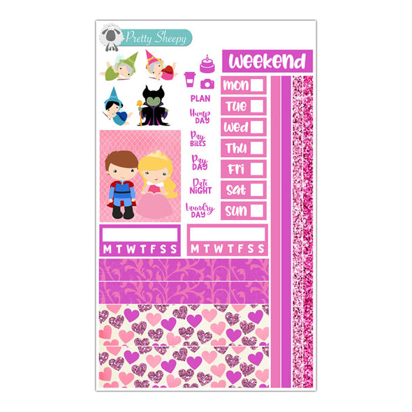 Sleeping Beauty Hobonichi Weeks Stickers