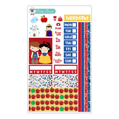Snow White Hobonichi Weeks Stickers