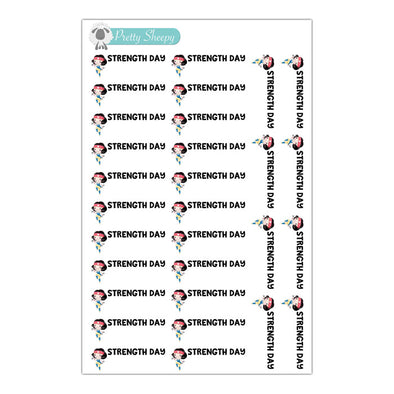 Strength Day Fitness Princess Stickers