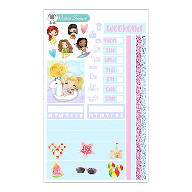 Summer Princesses Hobonichi Weeks Stickers