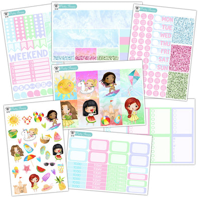 Summer Princesses Planner Stickers Collection