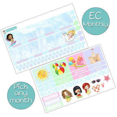 Summer Princesses Monthly Kit for Erin Condren Planner - Pick ANY Month!