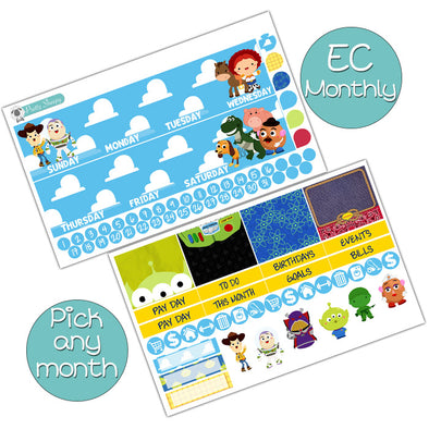 Toy Story Monthly Kit for Erin Condren Planner - Pick ANY Month!