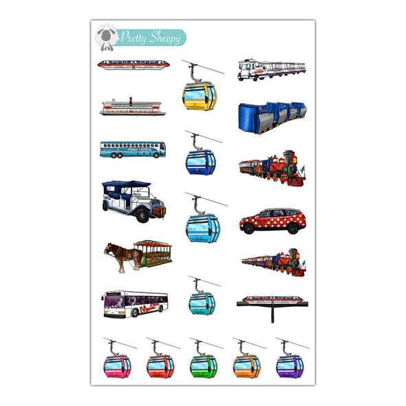 Magical Transportation Stickers