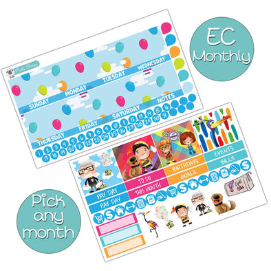 Up Monthly Kit for Erin Condren Planner - Pick ANY Month!