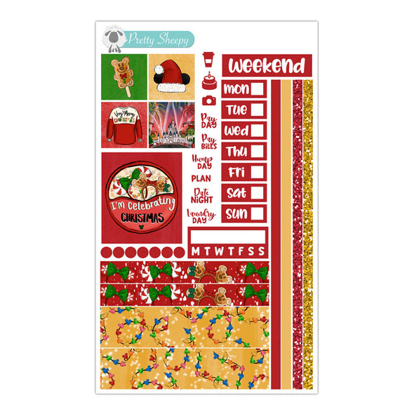 Very Merry Christmas Hobonichi Weeks Stickers