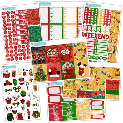 Very Merry Christmas Planner Stickers Collection
