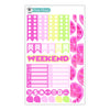 Violet Lemonade Planner Stickers Collection