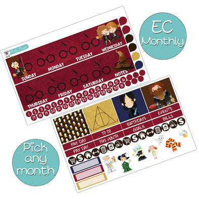 Wizards Monthly Kit for Erin Condren Planner - Pick ANY Month!