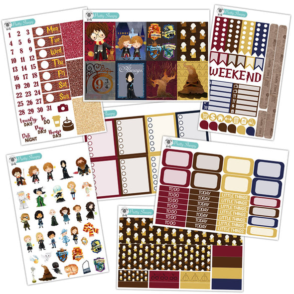 Wizards Planner Stickers Collection