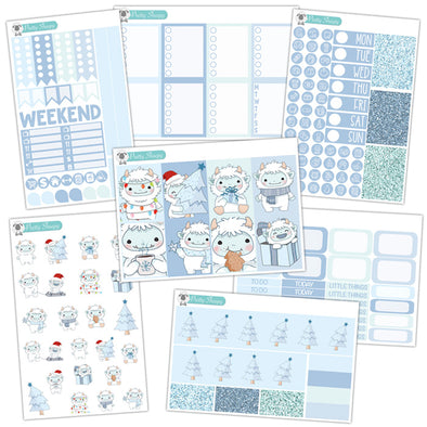 Yeti Christmas Planner Stickers Collection
