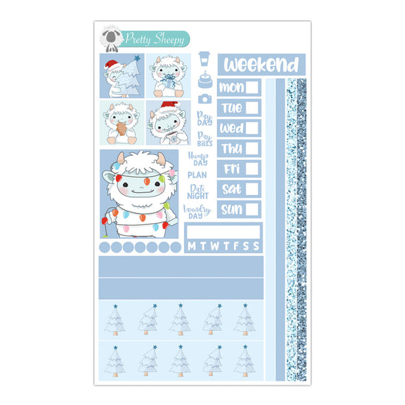 Yeti Christmas Hobonichi Weeks Stickers