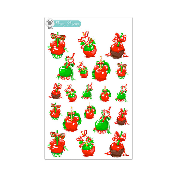 Christmas Candy Apples Stickers