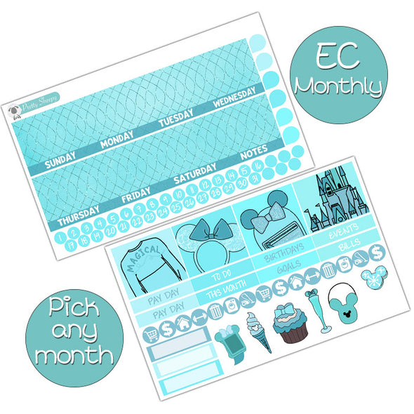 Arendelle Aqua Monthly Kit for Erin Condren Planner - Pick ANY Month!