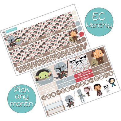 Bounty Hunter Monthly Kit for Erin Condren Planner - Pick ANY Month!
