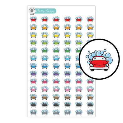 Car Wash Stickers - Rainbow Doodles