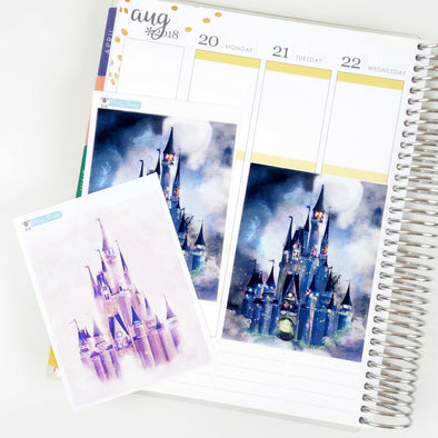 Cinderella Castle Jumbo Box Stickers